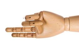 2 деревянного руки перстов людских Стоковое Изображение RF