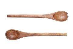 2 деревянных изолированной ложки Стоковые Фотографии RF