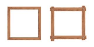 2 деревянных рамки Стоковое Изображение