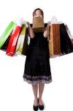 2 детеныша женщины мешков ходя по магазинам Стоковые Изображения