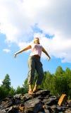 2 детеныша женщины холма каменистых Стоковые Изображения RF