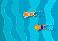 2 дет плавая. Стоковая Фотография