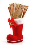 2 доллара ботинок красно Стоковая Фотография