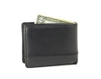 2 доллара в бумажнике Стоковое Фото