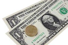 2 доллара колотят к Стоковое Фото