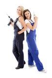 2 друз женщин DIY Стоковое Изображение