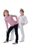 2 друз маленькой девочки Стоковые Изображения