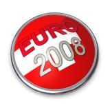 2 евро чемпионата 2008 кнопок Стоковое Изображение