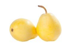 2 желтых груши Стоковая Фотография