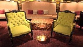 2 желтых стула сбора винограда Стоковое фото RF