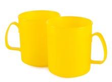 2 желтых чашки Стоковое Изображение RF