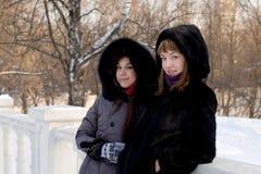 2 женских друз гуляя в парк Стоковая Фотография RF