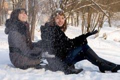 2 женских друз Стоковое Изображение RF