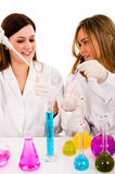 2 женских научного работника Стоковое Изображение