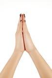 2 женских руки молодой Стоковые Фото