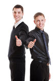 2 зажиточных молодых бизнесмена Стоковая Фотография RF