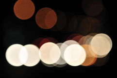 2 запачканных света города Стоковое Изображение