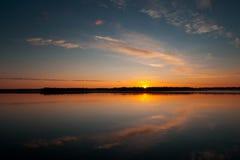 2 заход солнца wisconsin Стоковое Изображение