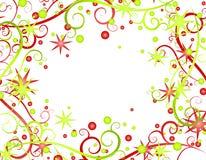 2 звезды тесемок рождества предпосылки Стоковая Фотография