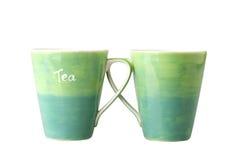 2 зеленых кружки Стоковая Фотография RF