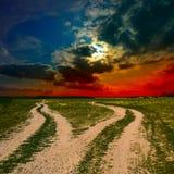 2 земных дороги Стоковая Фотография RF