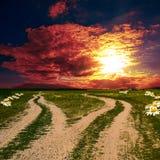 2 земных дороги Стоковые Фото