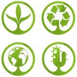 2 знака eco установленных Стоковое Изображение RF