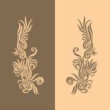 2 золотистого предпосылки коричневых Стоковые Фотографии RF