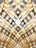 2 золотистых прямоугольника Стоковое Изображение