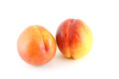 2 зрелых персика Стоковая Фотография