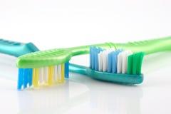 2 зубной щетки Стоковое Изображение