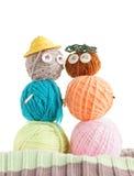 2 игрушки сделанной шариков пряжи Стоковая Фотография