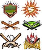 2 изображения бейсбола иллюстрация вектора