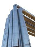 2 изолированная линия труба путей Стоковое фото RF