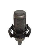 2 изолированная студия микрофона вокальная Стоковое фото RF