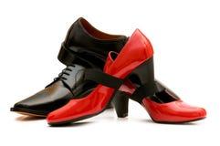 2 изолированного ботинка Стоковые Фото