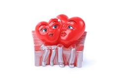 2 изолированного сердца valentine Стоковая Фотография