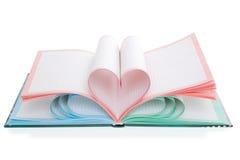 2 изолированный сердцами символ тетради Стоковые Фотографии RF