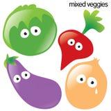 2 изолированный установленный овощ Стоковые Фото