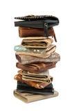 2 изолированных бумажника стога Стоковое Изображение