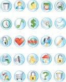 2 иконы круглой Стоковая Фотография RF