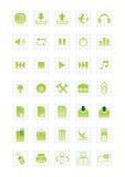2 иконы установили сеть Стоковое Изображение