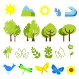 2 иконы экологичности бесплатная иллюстрация