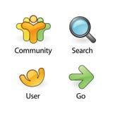 2 иконы vector сеть Стоковая Фотография