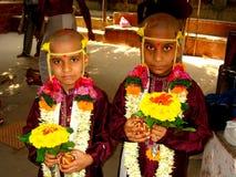 2 индийских мальчика в церемонии Стоковая Фотография RF
