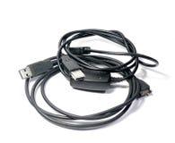 2 кабеля с оплеткой Стоковая Фотография RF