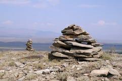 2 каменных башни Дзэн Стоковые Изображения RF