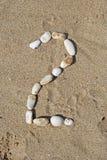 2 камня номера Стоковое Фото