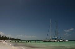 2 катамарана в порте Cayo Blanco, Кубы Стоковое Фото