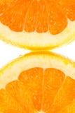 2 квартальных orangefruits Стоковые Изображения RF